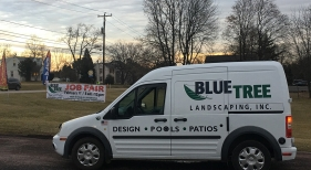 Blue Tree Landscaping Truck
