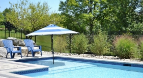 Tanning Ledge with Umbrella Holder