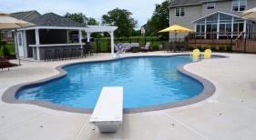 Freeform-Custom-Pool-with-Diving-Board