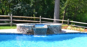 Custom Free Form Pool with Spa