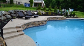 Custom-Pool-with-Raised-Rock-Wall