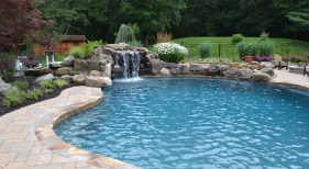 Custom Pool with Grotto