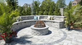 Fire Pit with Bench