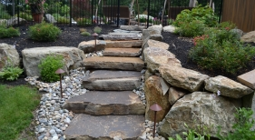 Flagstone Steps to Pool Area