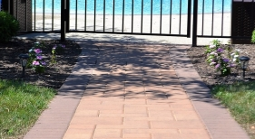 Walkway to Pool Area
