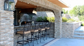Outdoor Covered Bar Area