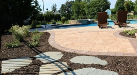 Flagstone and Paver Pathway