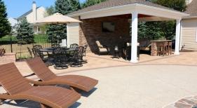 Pool Cabana with Storage Shed - Skippack