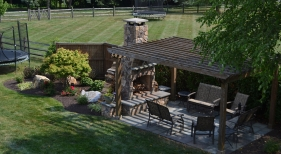 Outdoor-fireplace-and-pergola