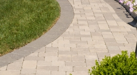 EP Henry Old Towne Cobble Paver Walkway