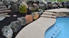 Boulder-landscaping-by-pool